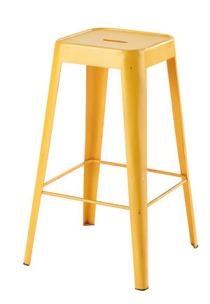 tabouret de bar en m tal jaune maisons du monde. Black Bedroom Furniture Sets. Home Design Ideas