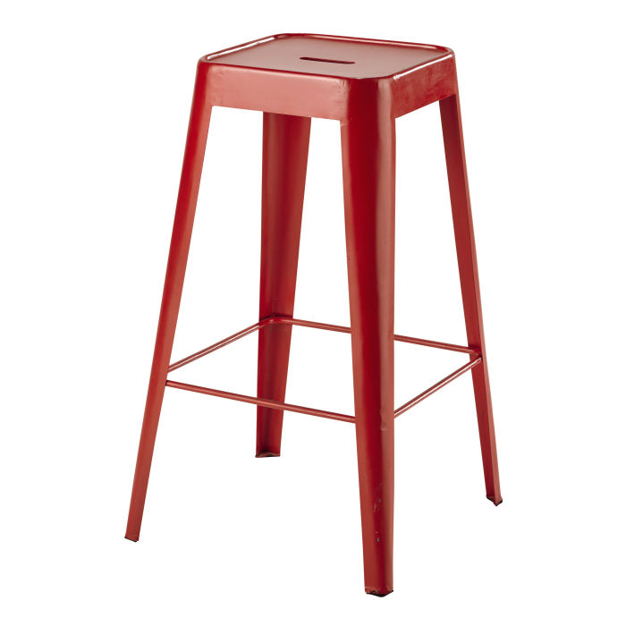 tabouret de bar industriel orange