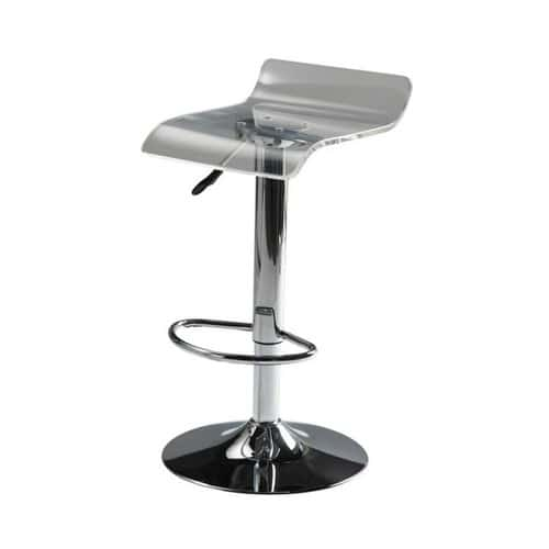 tabouret de bar en plastique acrylique et m tal chrom pop art maisons du monde. Black Bedroom Furniture Sets. Home Design Ideas