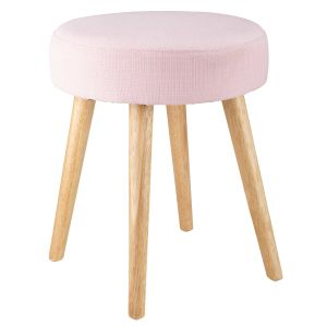 Tabouret en tissu rose PIN'UP