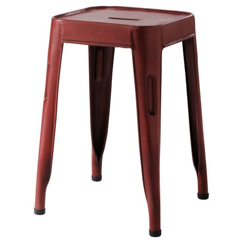 tabouret rouge jim maisons du monde. Black Bedroom Furniture Sets. Home Design Ideas