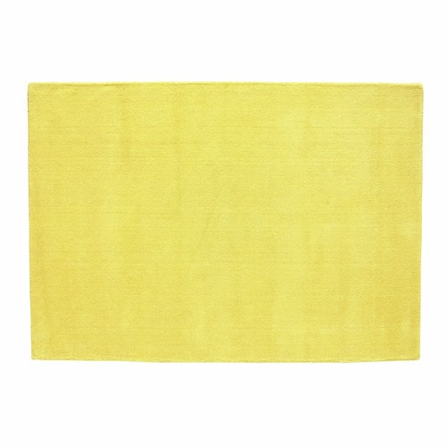 tapis poils courts en laine jaune moutarde 160 x 230 cm soft maisons du monde. Black Bedroom Furniture Sets. Home Design Ideas