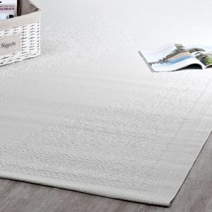 tapis d 39 ext rieur en polypropyl ne blanc 180x270 maisons du monde. Black Bedroom Furniture Sets. Home Design Ideas