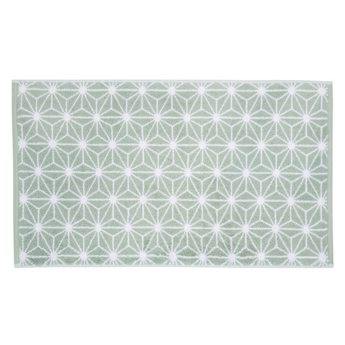 tapis de bain en coton vert d 39 eau 50 x 80 cm nordic maisons du monde. Black Bedroom Furniture Sets. Home Design Ideas