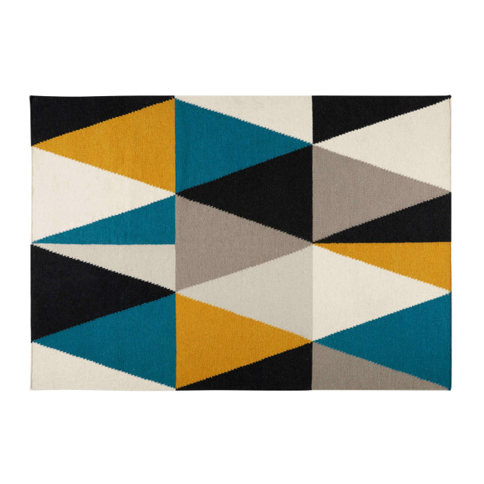 Tapis motifs triangles multicolores 200X140cm