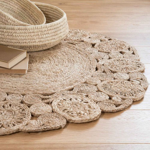 tapis rond en jute d 90 cm kuta maisons du monde. Black Bedroom Furniture Sets. Home Design Ideas