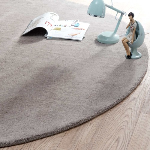 tapis rond soft taupe 200 cm diam tre maisons du monde. Black Bedroom Furniture Sets. Home Design Ideas