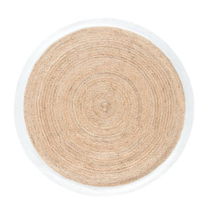 tapis rond tress en jute contour vert d180 maisons du monde. Black Bedroom Furniture Sets. Home Design Ideas
