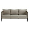 Taupe 3-Seater Resin Wicker Garden Sofa - Bermudes