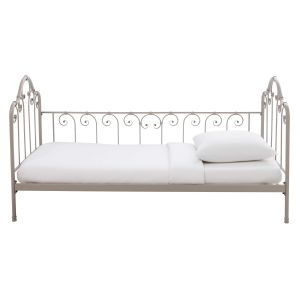 Taupe metal daybed 90 x 190 cm
