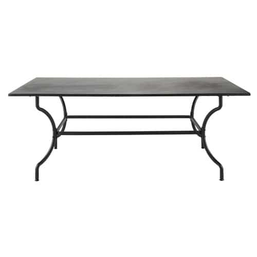Tavolo marrone da giardino in ferro battuto l 200 cm for Table en fer exterieur
