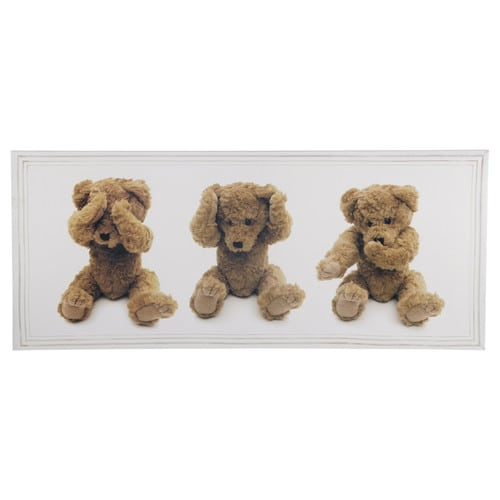 teddy bears canvas 38 x 90cm maisons du monde. Black Bedroom Furniture Sets. Home Design Ideas