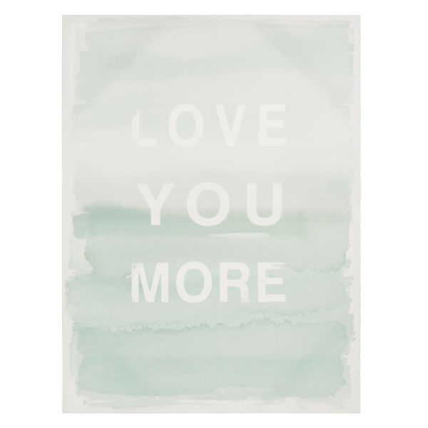 Toile bleue 45 x 60 cm LOVE YOU MORE
