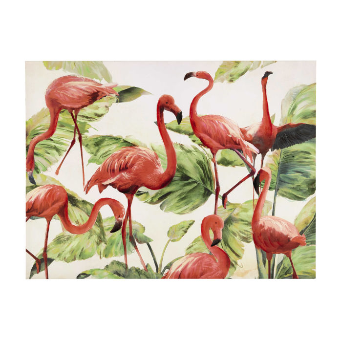 Toile Flamants Roses 90 X 120 Cm Flamingo Maisons Du Monde