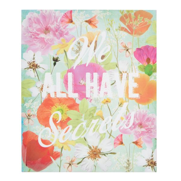 Toile fleurs multicolores 35 x 41 cm WE ALL HAVE SECRETS