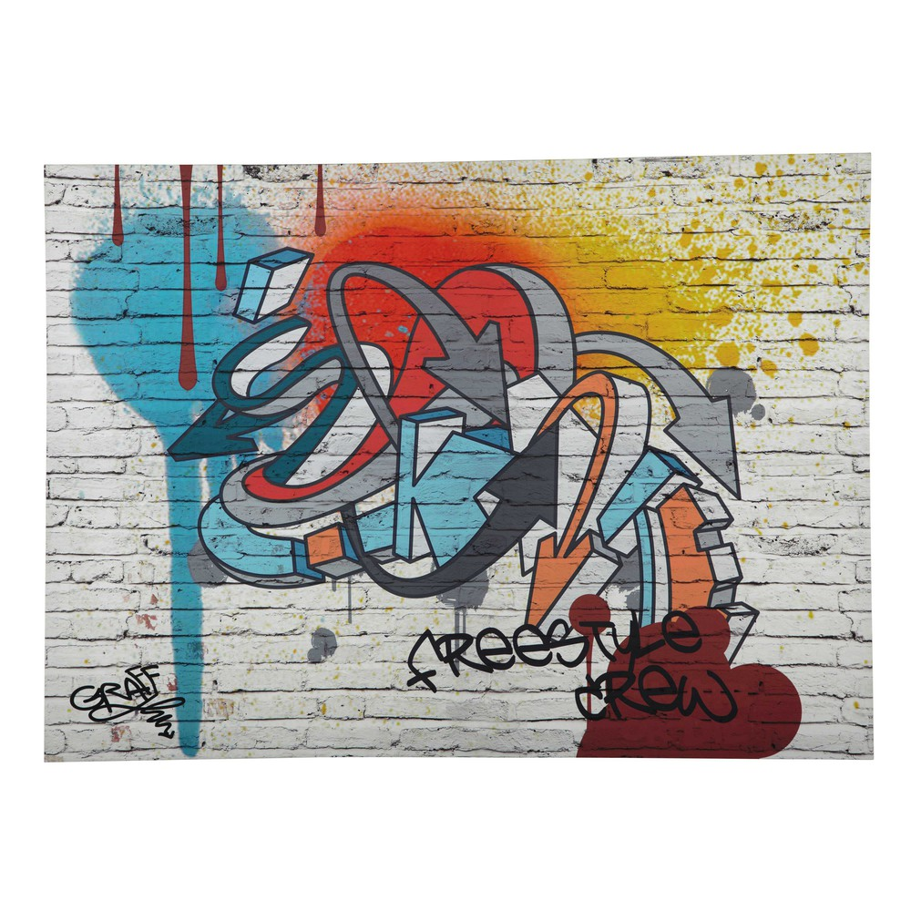 Toile graffiti multicolore 80 x 110 cm FREESTYLE (photo)