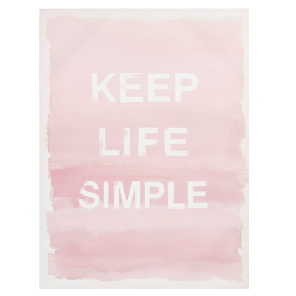 Toile rose 45 x 60 cm KEEP LIFE SIMPLE