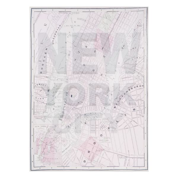 Toile rose pastel 45 x 63 cm NEW YORK CITY