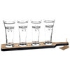 Tray with 4 Beer Glasses - BRASSERIE