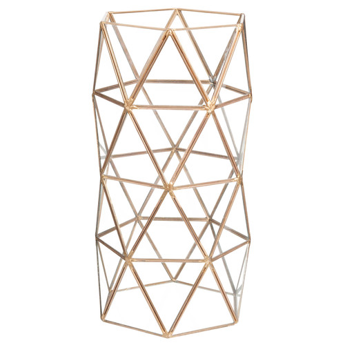 triangles metal and glass vase maisons du monde. Black Bedroom Furniture Sets. Home Design Ideas
