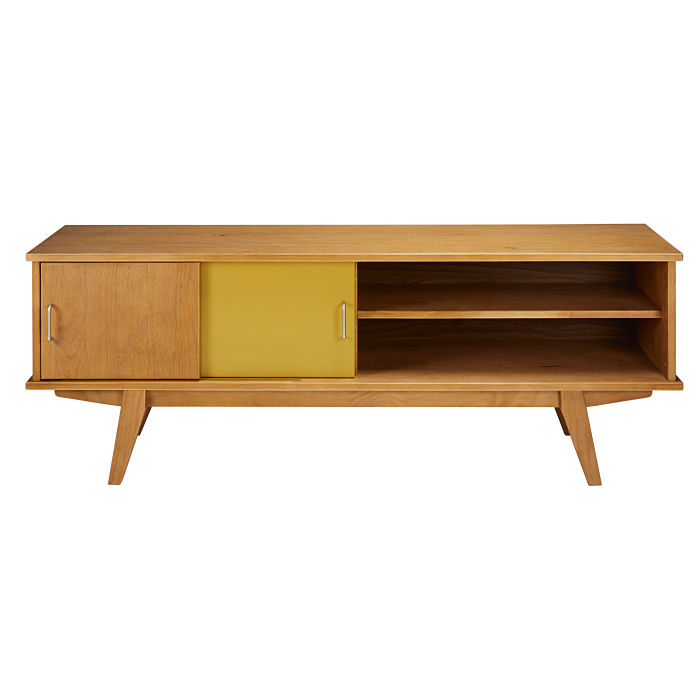 Tricoloured Vintage 2 Door Tv Unit Paulette Maisons Du Monde