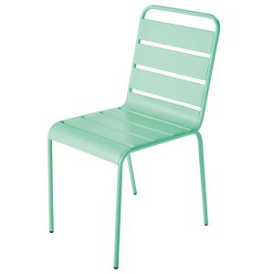 Turquoise Blue Metal Garden Chair