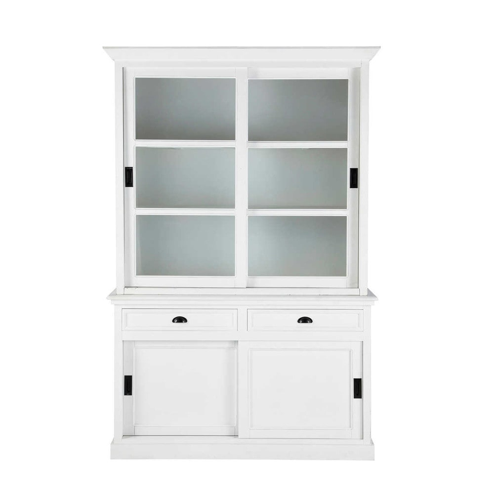 Vaisselier en pin blanc L 145 cm Newport (photo)