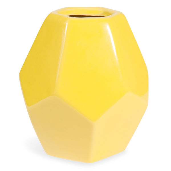 maisons du monde vase en c ramique jaune h 21 cm origami shoppingscanner. Black Bedroom Furniture Sets. Home Design Ideas