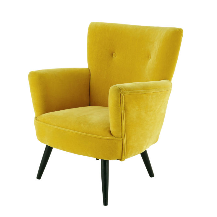 Popular 225 List Yellow Velvet Chair