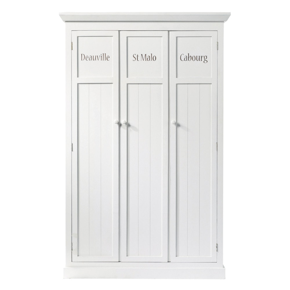 Vestiaire en pin blanc L 125 cm Newport (photo)