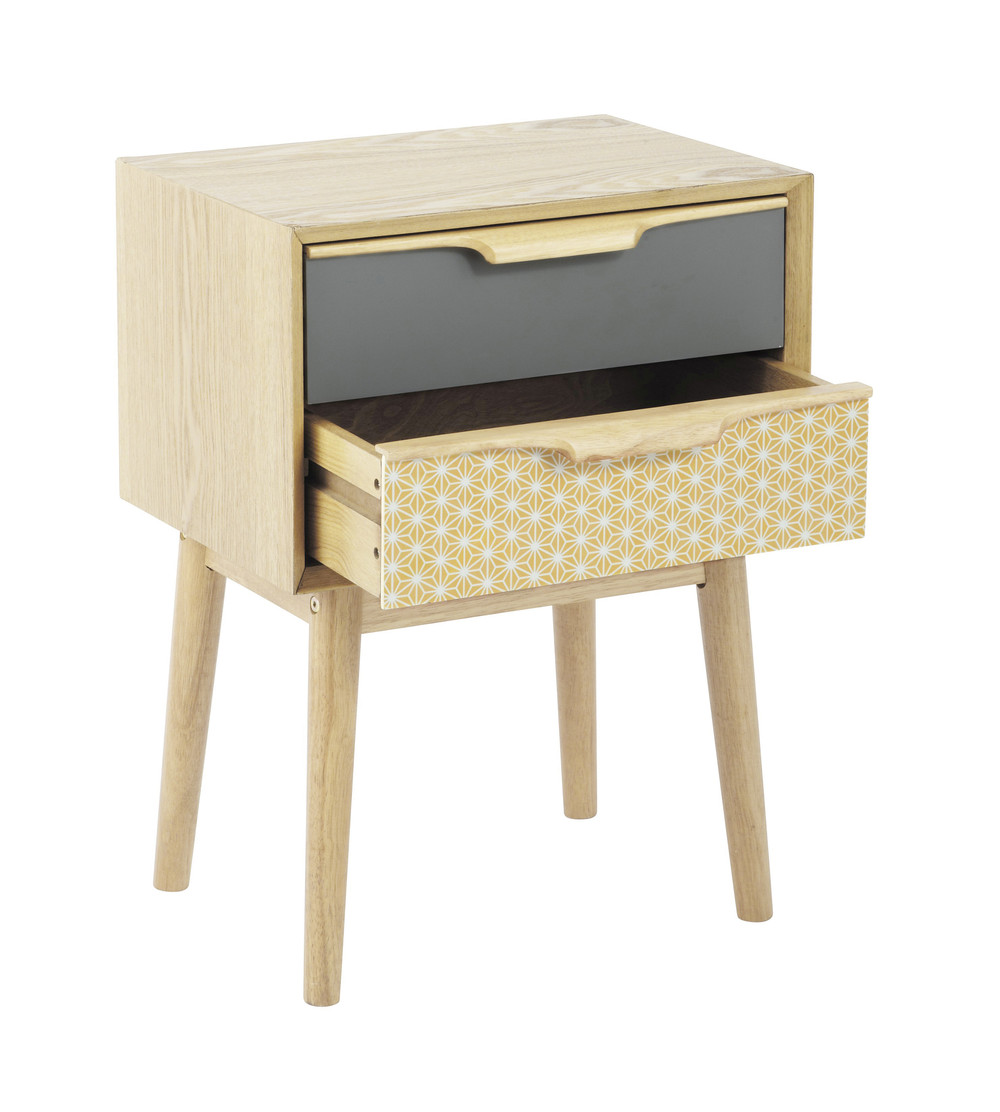 Vintage 2-Drawer Bedside Table | Maisons du Monde