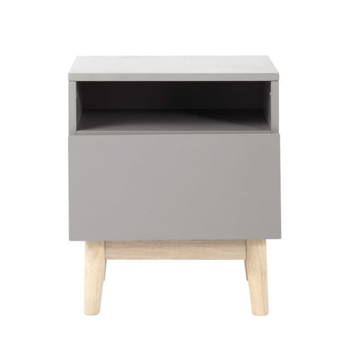 Vintage Bedside Table in Grey