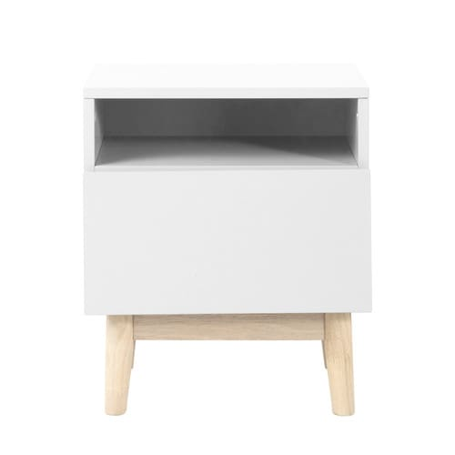Vintage Bedside Table in White