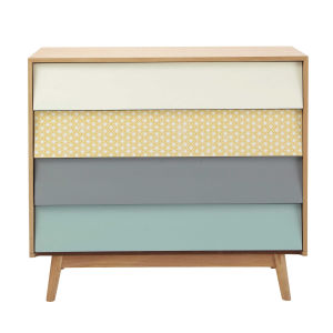 Vintage Multicoloured 4-Drawer Chest