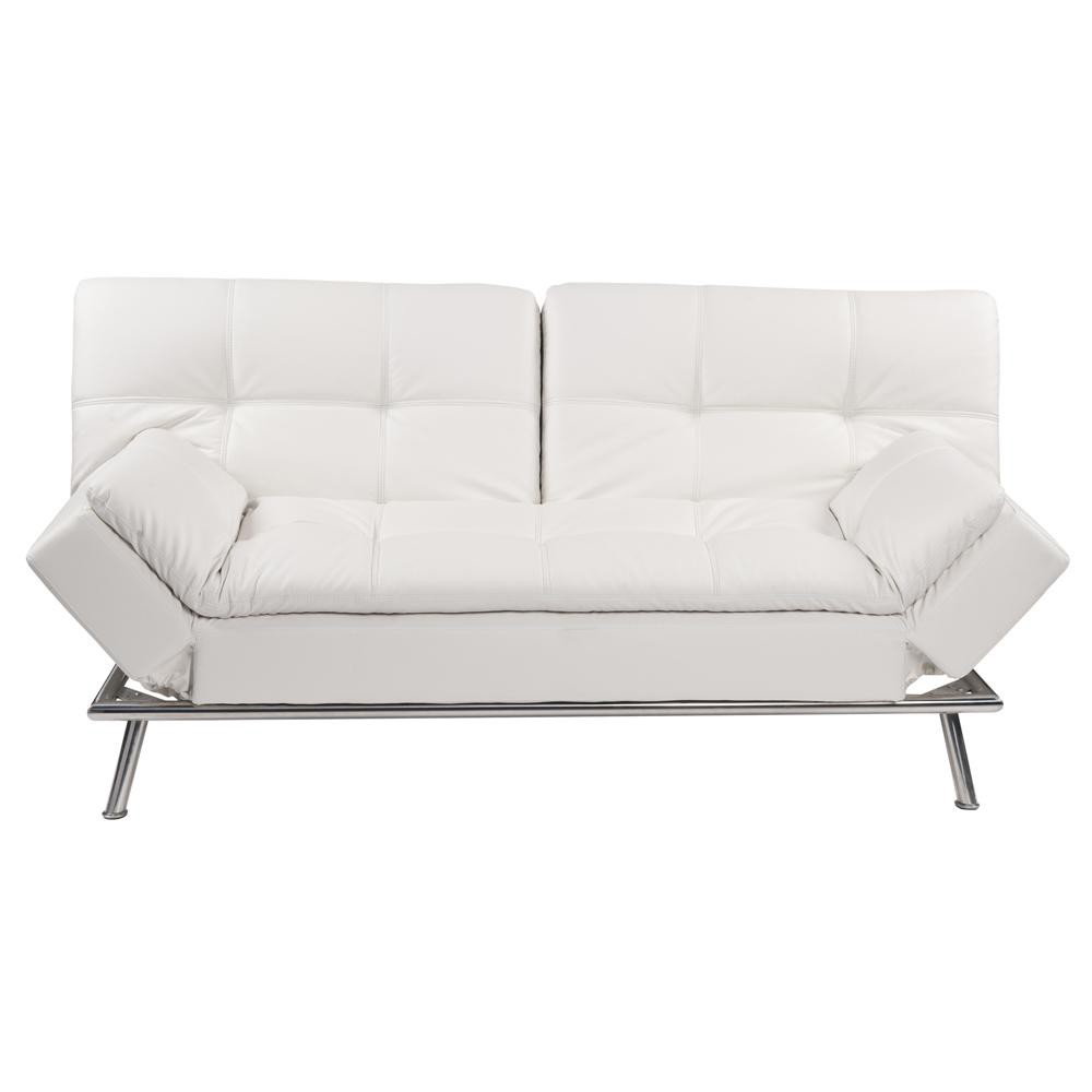 White 3-seater tufted clic clac sofa bed | Maisons du Monde