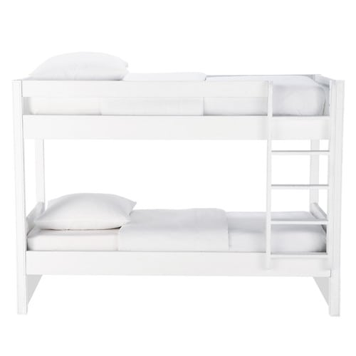 White 90 x 190 bunk beds