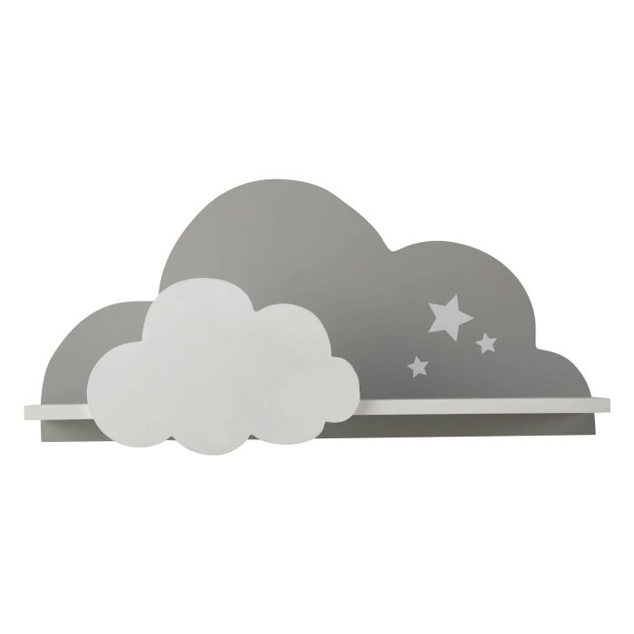 Maison Du Monde Mensole.White And Grey Cloud Wall Shelf