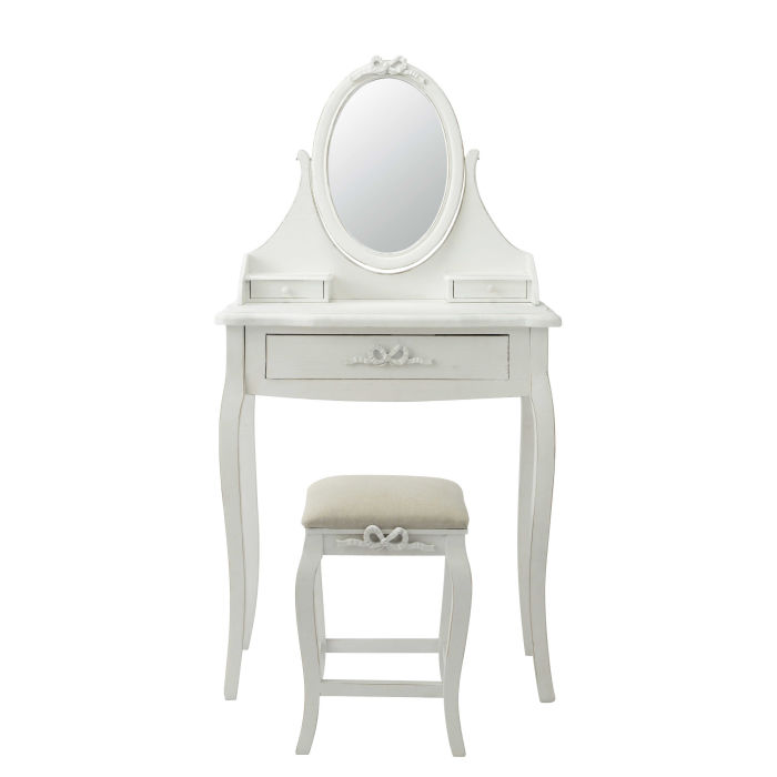 white dressing table with stool maisons du monde