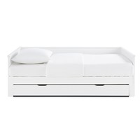 White Extendable Bed 90 x 190 Happy Camper
