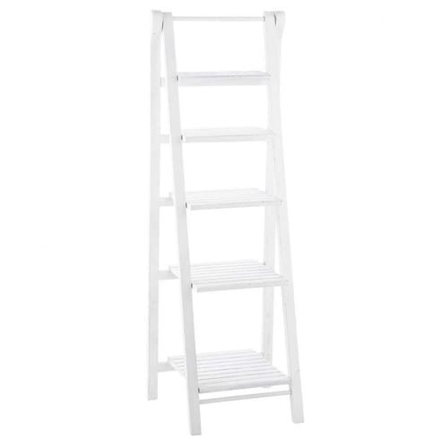white fir ladder shelf unit freeport maisons du monde. Black Bedroom Furniture Sets. Home Design Ideas