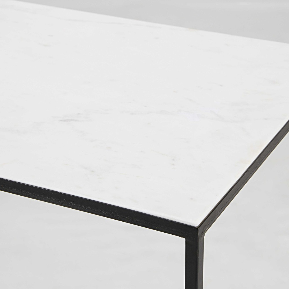 ... Black Metal Console Table. Marble