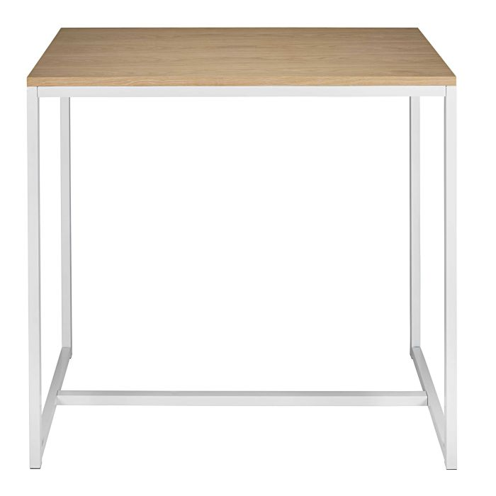white metal bar table l 120 cm maisons du monde
