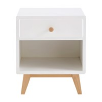 White Vintage 1-Drawer Bedside Table Sweet