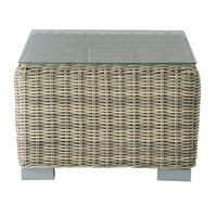 Wicker garden side table W 56cm