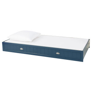 Wooden 90 x 190cm storage drawer / trundle bed in grey