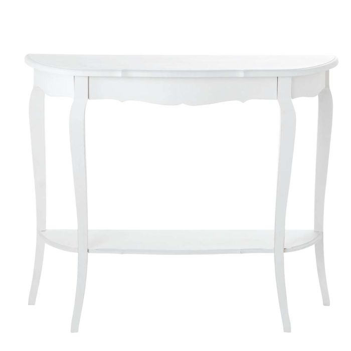 Wooden console table in white W 94cm