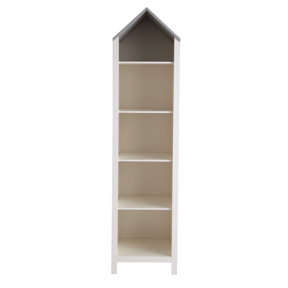 Wooden dolls house bookcase in white W 45cm