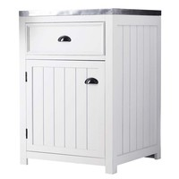 Wooden kitchen base unit in white, right-opening W 60cm