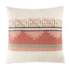Wool and Cotton Cushion with Graphic Motifs 45x45