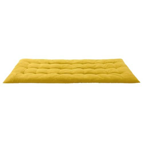 Yellow Cotton Futon Mattress 90 x 190 SIXTIES